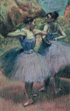 Dancers in Violet by Edgar Degas