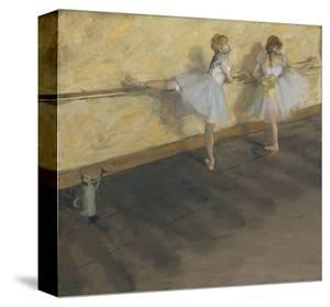Dancers Practicing at the Barre, 1877 by Edgar Degas