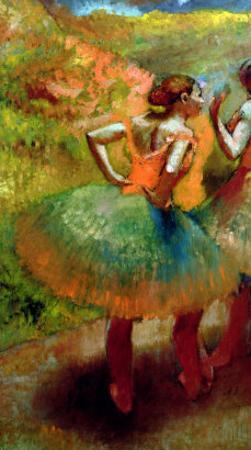 Dancers Wearing Green Skirts, circa 1895 by Edgar Degas