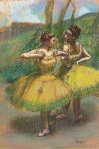 Dancers with Yellow Skirts (Two Dancers in Yellow), C.1896 by Edgar Degas