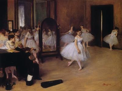 Dancing Class (Classe De Danse), about 1871 by Edgar Degas