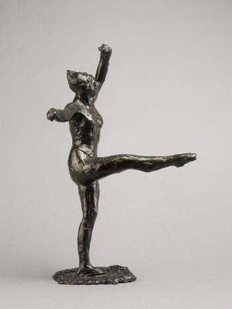 Danseuse, position de quatrième devant sur la jambe gauche, première étude by Edgar Degas