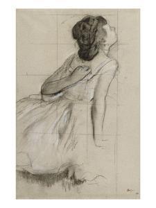 Danseuse, vue de profil sur la droite by Edgar Degas