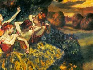 Degas: Four Dancers, C1899 by Edgar Degas