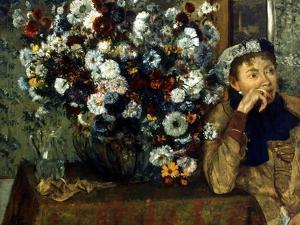 Degas: Woman & Flowers by Edgar Degas