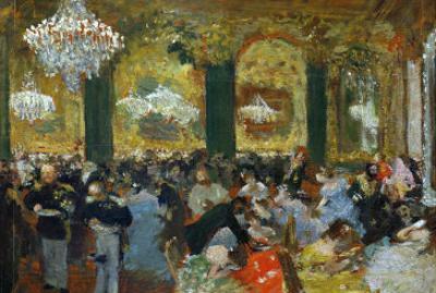 Dinner at the Ball, 1879, after Adolf Von Menzel (1815-1905) by Edgar Degas