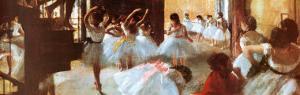 Ecole de Danse (detail) by Edgar Degas