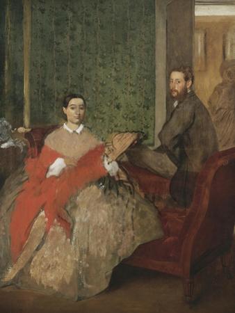 Edmondo and Thérèse Morbilli, c.1865 by Edgar Degas