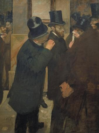 Ernest May (1845-1925) at the Stock Exchange in Paris, 1878-1879 by Edgar Degas