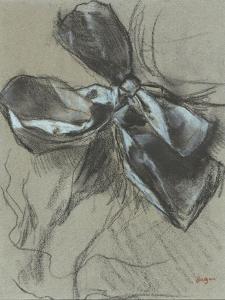 Etude d'un noeud de ruban by Edgar Degas