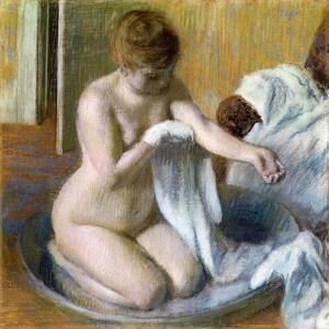 Femme Au Tub, Ca. 1883 by Edgar Degas