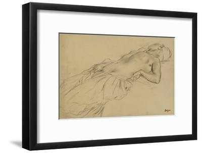 Femme nue, étendue sur le dos