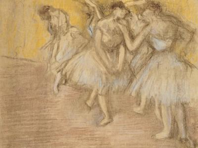 Five Dancers on Stage, C.1906-08 by Edgar Degas