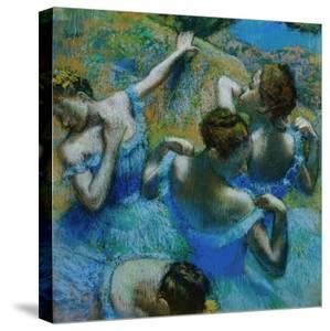 Four Ballerinas Straightening Up in the Wings by Edgar Degas