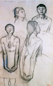 Four Studies of Dancers by Edgar Degas