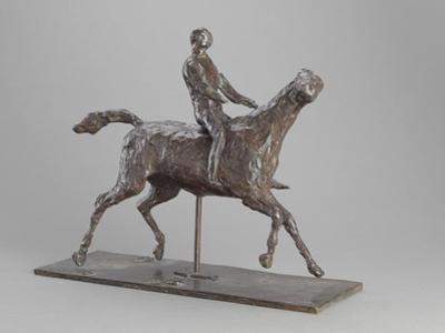 Galloping Horse Turning His Head Right. Horse Jockey by Edgar Degas