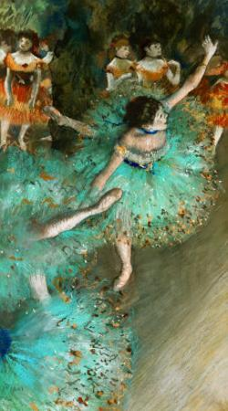 Green Dancer, circa 1880 by Edgar Degas