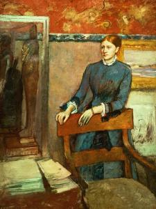 Helene Rouart in Her Father's Study, 1886 by Edgar Degas