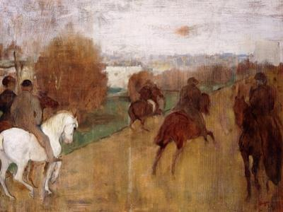 Horse Riders on a Road, 1864-68 by Edgar Degas