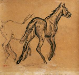 Horses, circa 1882 by Edgar Degas