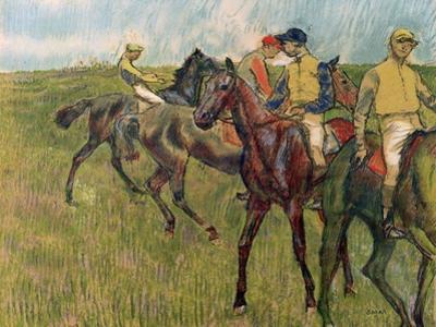 Horses with Jockeys, 1910 by Edgar Degas