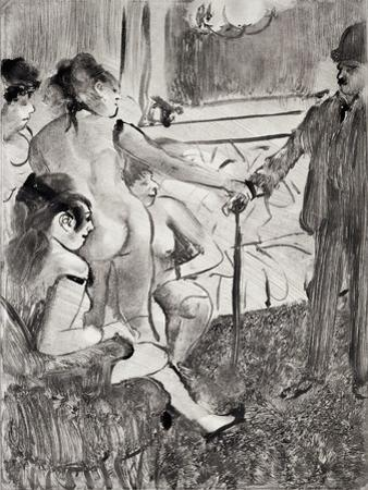 "Illustration from ""La Maison Tellier"" by Guy de Maupassant  1933 by Edgar Degas"