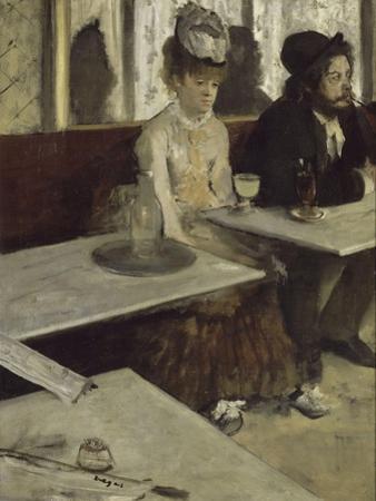 In a Café (Absinth), 1873 by Edgar Degas