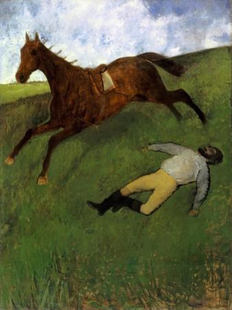 Injured Jockey, 1896-98 by Edgar Degas