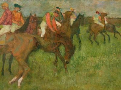 Jockeys, 1886-90 by Edgar Degas