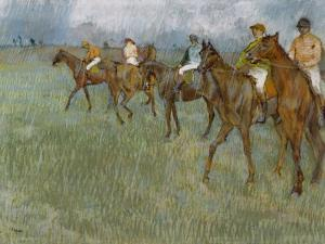 Jockeys in the Rain, C.1886 by Edgar Degas