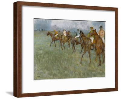 Jockeys in the Rain, C.1886