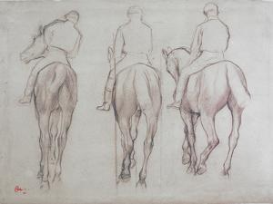 Jockeys by Edgar Degas
