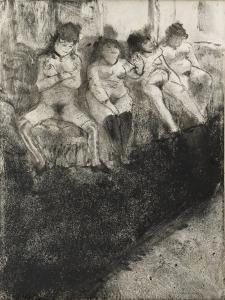L'attente (seconde version) by Edgar Degas