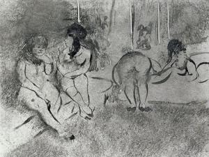 L'attente by Edgar Degas