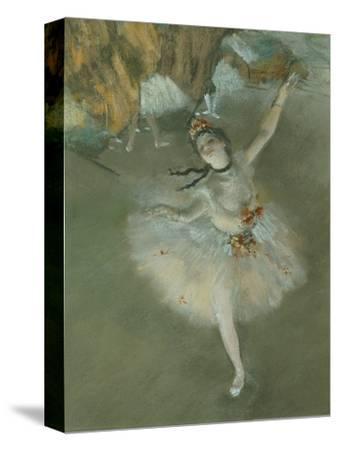 L'Etoile Ou Danseuse Sur Scene, the Star or Dancer on Stage, Pastel, C. 1876, Detail