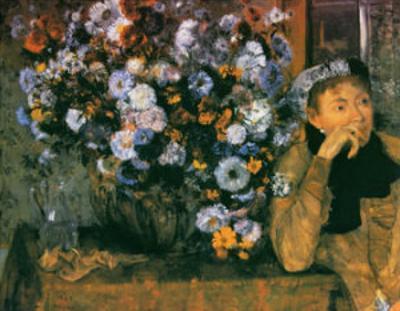 La Femme au Chrysanthemes, 1865