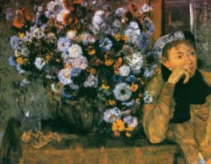 La Femme au Chrysanthemes, 1865 by Edgar Degas