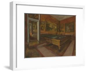 La Salle de billard au Menil Hubert by Edgar Degas