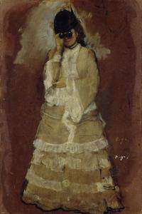 Lady with Opera Glasses, 1879-80 by Edgar Degas