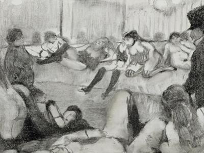 Le client by Edgar Degas