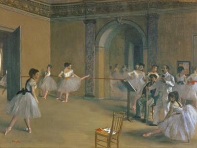 Le Foyer De La Danse a L'Opéra De La Rue Le Peletier, 1872 by Edgar Degas