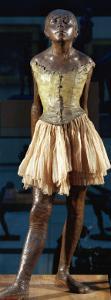 Little Dancer Aged Fourteen, 1880-1881, Bronze with Muslin Skirt and Satin Hair Ribbon by Edgar Degas