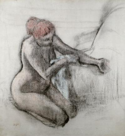 Nude Woman Wiping Herself after the Bath by Edgar Degas