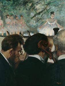 Orchestra Musicians by Edgar Degas