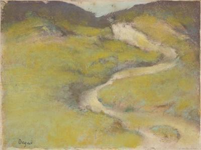Pathway in a Field, 1890 by Edgar Degas