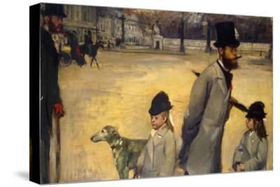 Place De La Concorde, (Viscount Lepic and His Daughters Crossing the Place De La Concord), 1875