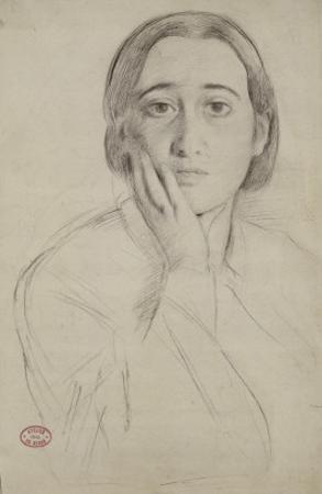 Portrait de Thérèse De Gas-Morbilli, étude pour le portrait de M. et Mme Edmondo Morbilli by Edgar Degas