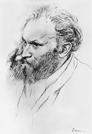 Portrait of Edouard Manet by Edgar Degas
