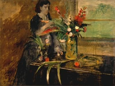 Portrait of Estelle Musson Degas, 1872 by Edgar Degas