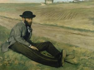 Portrait of Eugene Manet by Edgar Degas